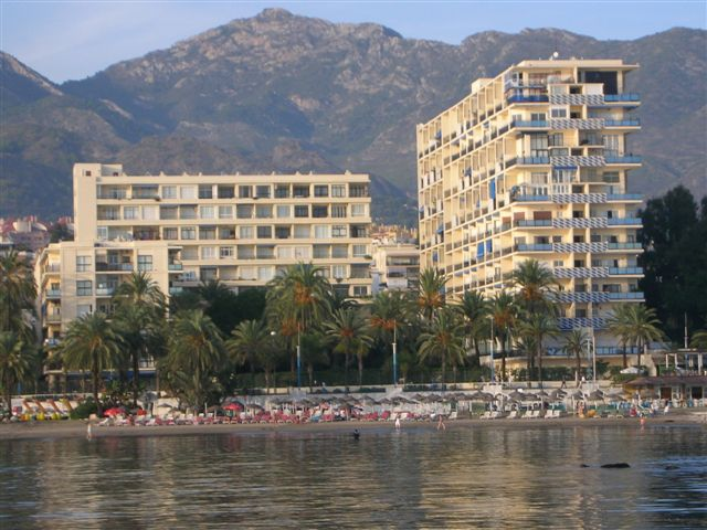The Skol apartments, Marbella as seen from the Marina